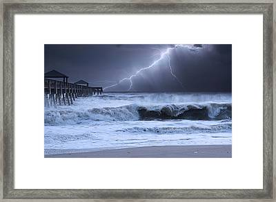 Lightning Strike Framed Print by Laura Fasulo
