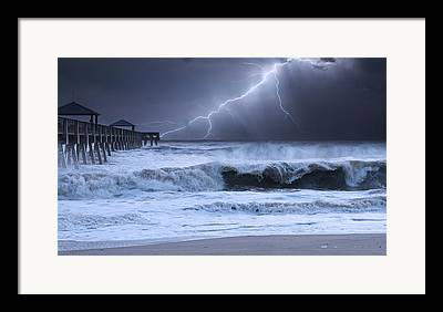 Lightning Wall Photographs Framed Prints