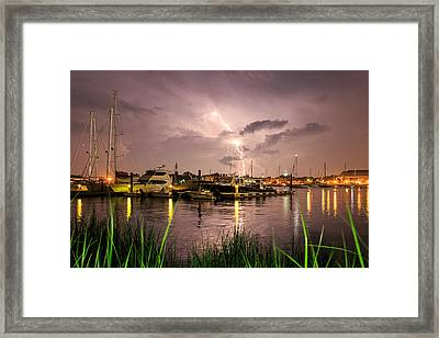 Lightning Strikes Annapolis Framed Print