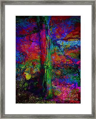 Lightning Strucked Tree Framed Print by Klara Acel