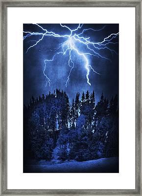 Lightning Framed Print by Svetlana Sewell