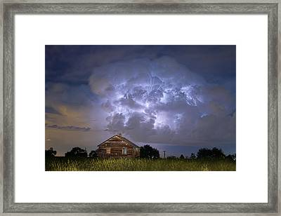 Lightning Thunderstorm Busting Out Framed Print by James BO  Insogna