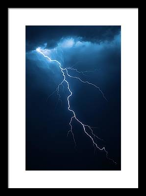 Lightning Images Framed Prints