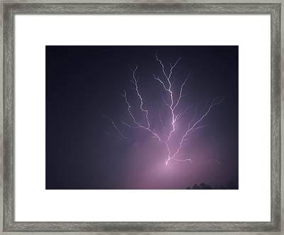 Lightning...energy Framed Print by Tom Druin