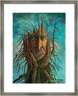 Lightninghead Framed Print