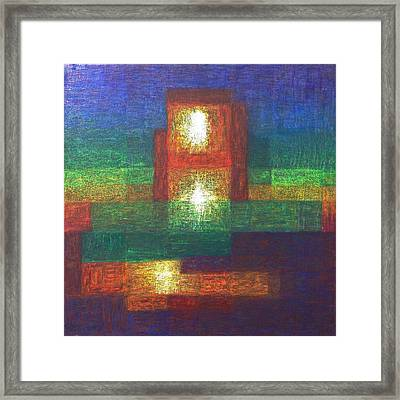 Framed Print featuring the painting Lightpicture 361 by SOBATA Satosi