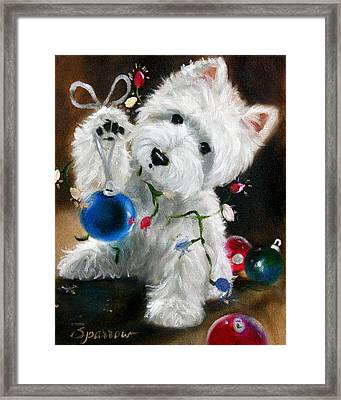 Lights And Balls Framed Print by Mary Sparrow