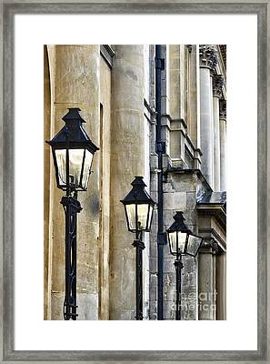 Lights And Columns Framed Print by Margie Hurwich