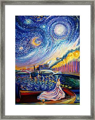 Lights At Night Framed Print by Frederick  Luff