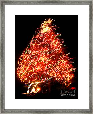 Lights Before Christmas Framed Print by Gem S Visionary