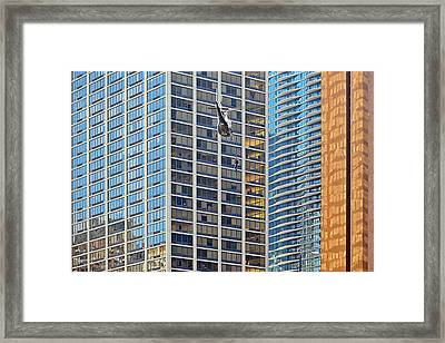 Lights - Camera - Action - Movie Backdrop Chicago Framed Print