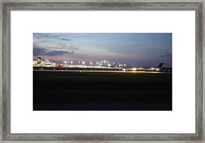 Lights Camera Jet Action Framed Print by Rosemarie E Seppala