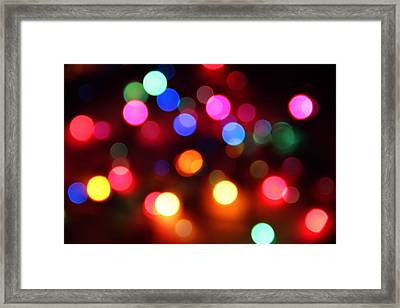 Framed Print featuring the photograph Lights by Elizabeth Budd