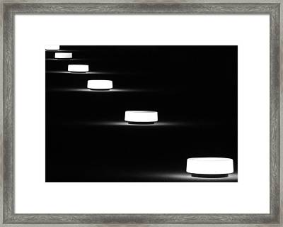 Lights In A Row Framed Print