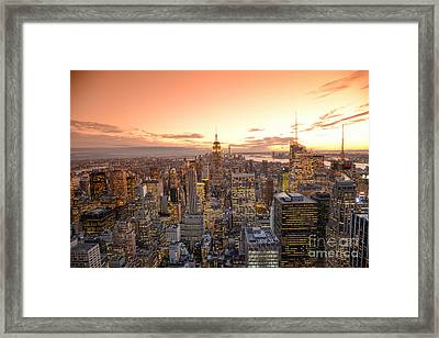 Lights In The Sunset Framed Print