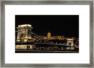 Lights Of Budapest Framed Print