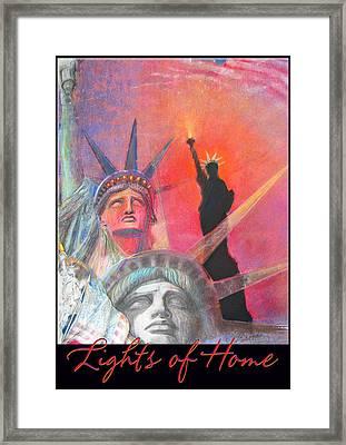 Lights Of Home - Pastel-mixed Media - Artwork Framed Print
