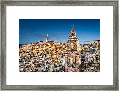 Lights Of Matera Framed Print by JR Photography