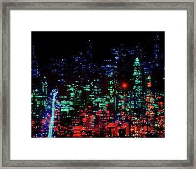 Lights Of New York City Framed Print