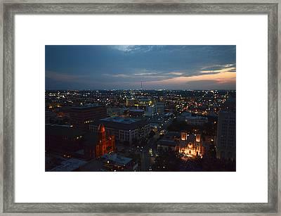 Lights Of San Antonio Tx  Framed Print