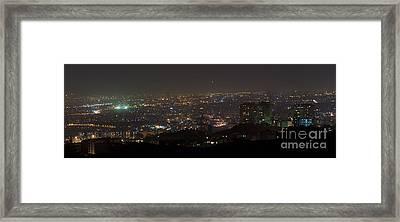 Lights Of Tehran, Iran Framed Print by Babak Tafreshi