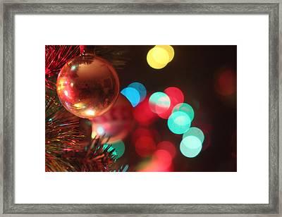 Lights Of Yuletide Lights Of Hope Framed Print by Carolina Liechtenstein