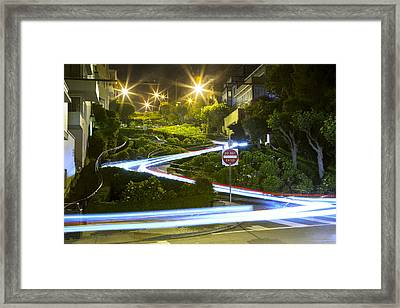 Lights On Lombard Framed Print by Bryant Coffey