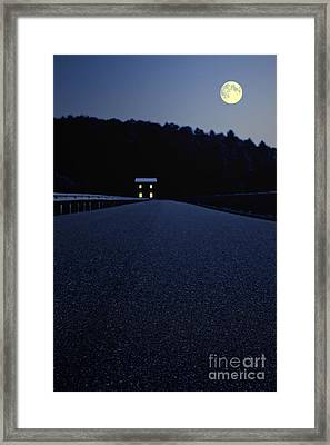 Lights On Up Ahead Framed Print by Edward Fielding
