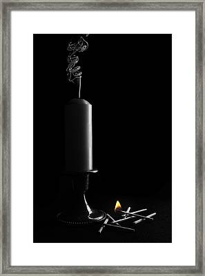 Lights Out Still Life Framed Print by Tom Mc Nemar