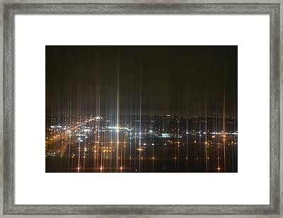 Light's Sound Waves Framed Print by Naomi Berhane