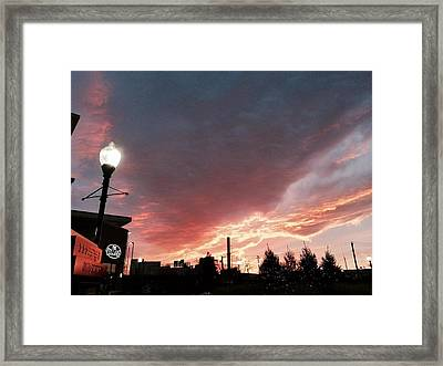 Framed Print featuring the photograph Lights The Whole Sky by Toni Martsoukos