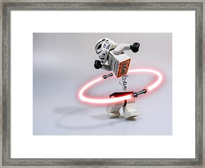 Lightsaber Hula Oops Framed Print by Randy Turnbow