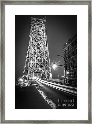 Framed Print featuring the photograph Lightspeed Through The Lift Bridge by Mark David Zahn Photography