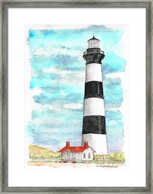 Ligthhouse Bodie Island, North Carolina Framed Print