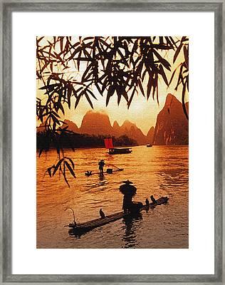 Lijiang Bamboo Framed Print by Dennis Cox ChinaStock