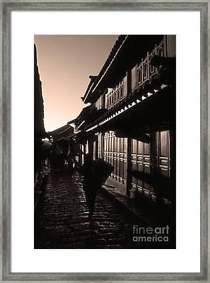Lijiang Old Town Yunnan China Framed Print by James Brunker