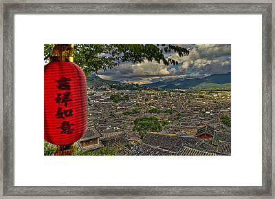 Lijiang Old Town Framed Print by James Wheeler