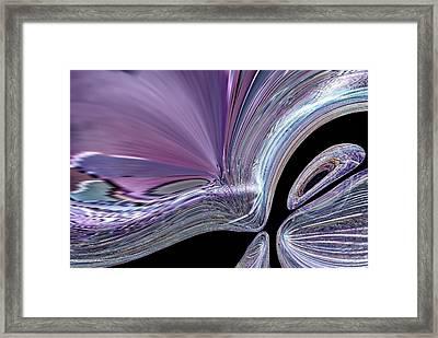 Like A Drop In The Splash Framed Print by Jeff Swan