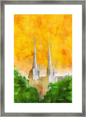 Like A Fire Is Burning Framed Print by Greg Collins