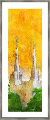Framed Print featuring the painting Like A Fire Is Burning - Panoramic by Greg Collins