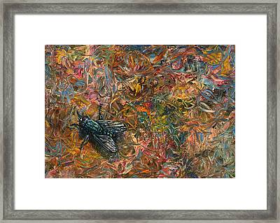 Like A Fly On Paint Framed Print by James W Johnson