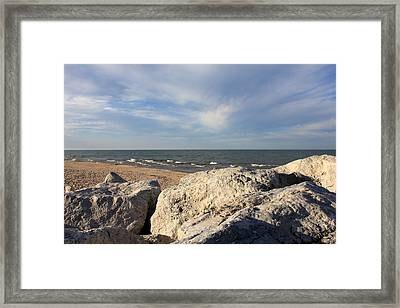 Like A Rock Framed Print by Sheryl Burns