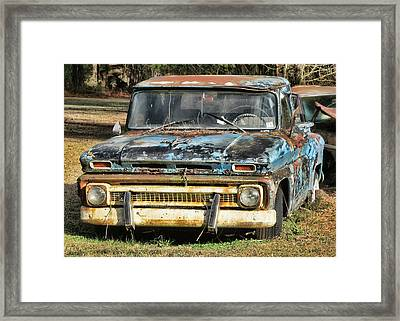 Like A Rock Framed Print by Victor Montgomery