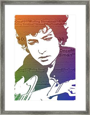 Like A Rolling Stone Bob Dylan Framed Print