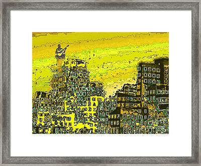 Framed Print featuring the digital art Like A Yellow Submarine by Mojo Mendiola
