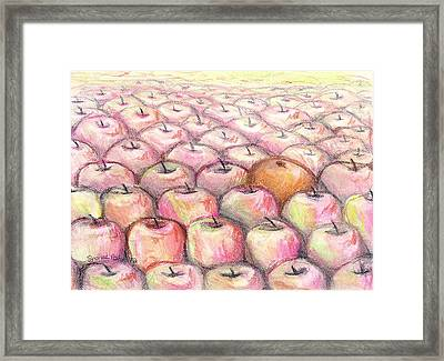 Like Apples And Oranges Framed Print
