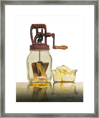 Framed Print featuring the painting Like Buttah by Ferrel Cordle