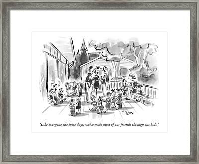 Like Everyone Else These Days Framed Print by Lee Lorenz