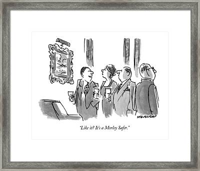 Like It?  It's A Morley Safer Framed Print by James Stevenson