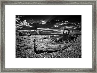 Like Moths To The Flame Framed Print by Meirion Matthias